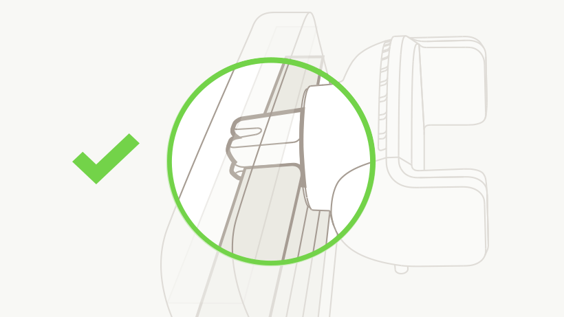 Illustration displaying how the mount attaches to the vent
