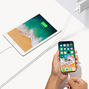 Charging an iPad and iPhone simultaneously