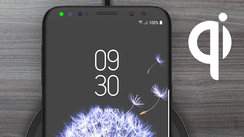 Phone charging with Qi icon