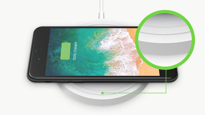Wireless charging pad closeup