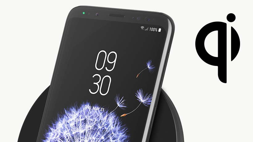 Smartphone with QI icon