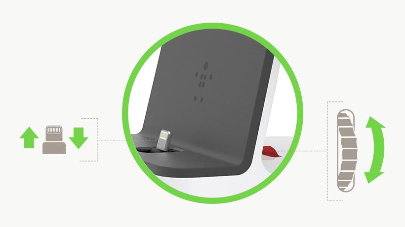 Adjustable built-in Lightning connector