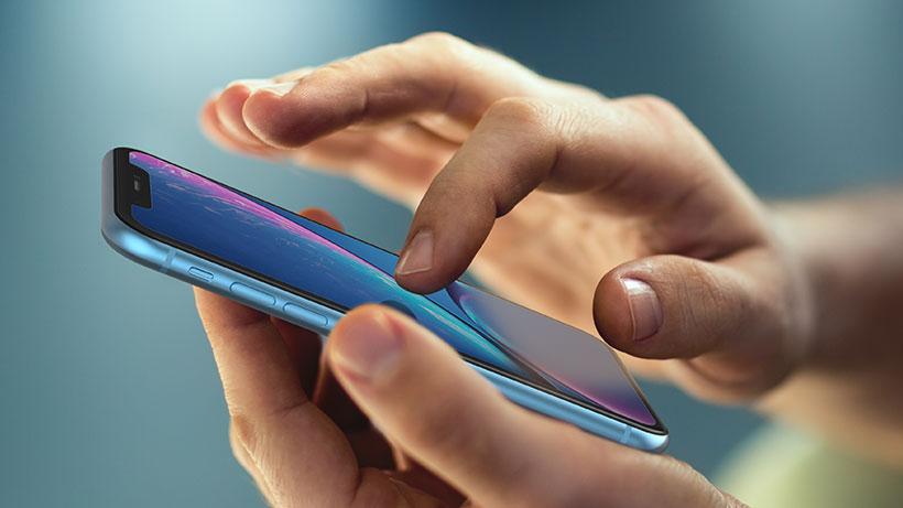 iPhone closeup in hand