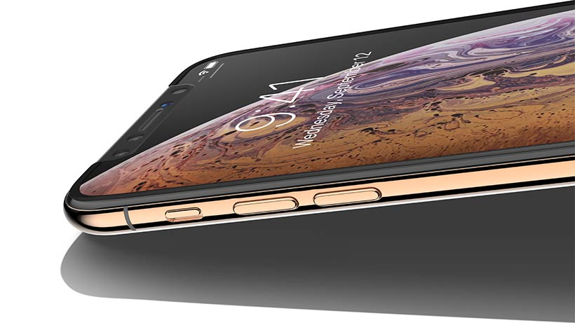 iPhone with SCREENFORCE™TemperedCurve