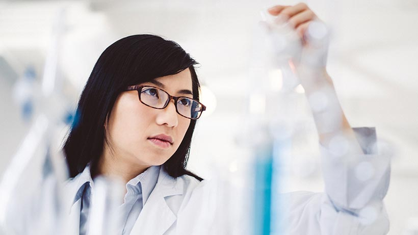 Scientist doing research in a lab